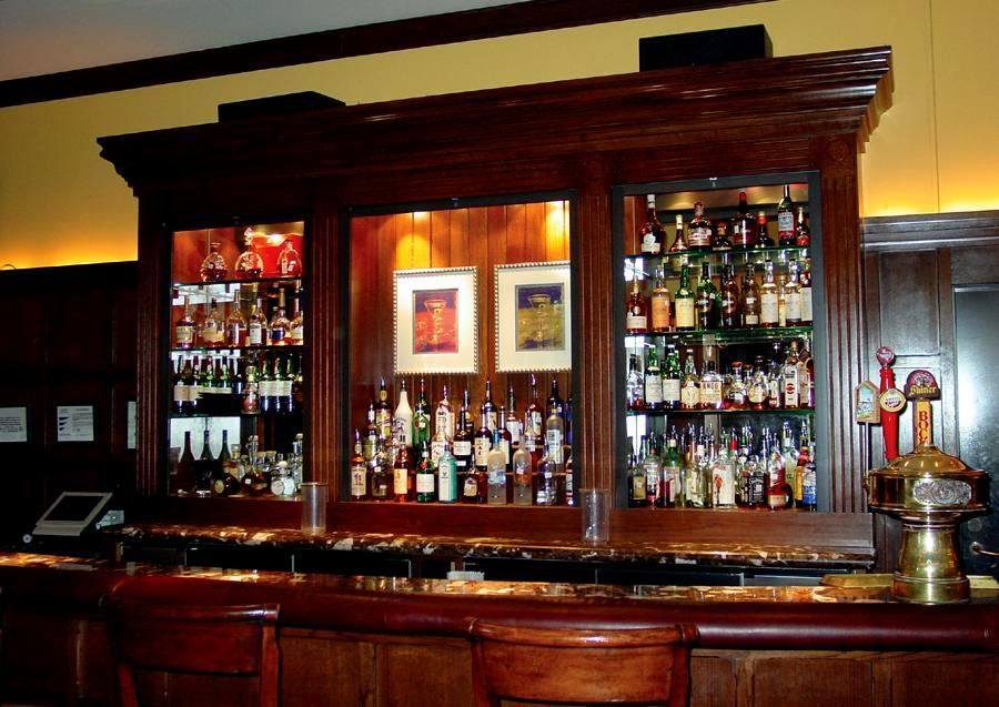 Elegant Design Corner Liquor Cabinet Bar Construction