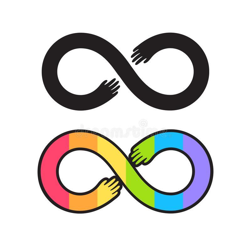 Rainbow Infinity Symbol Pride Autism Awareness Neurodiverse T-Shirt