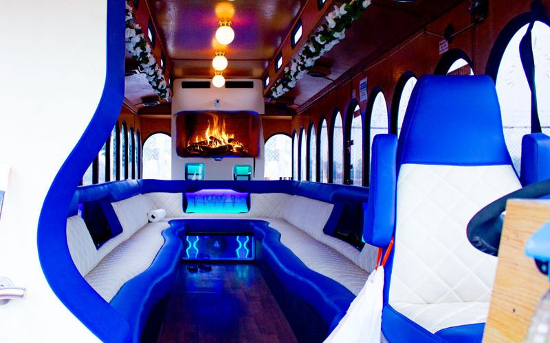 1 Wedding Party Bus Service Chicago Trolley Cheap Limo
