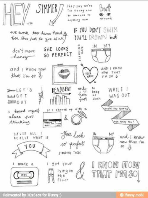 5sos lyrics - | Boy Bands, yes please  | 5sos lyrics, Lyric art, She