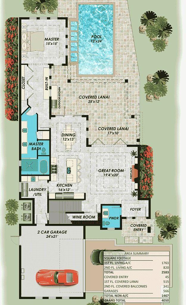 Plano de vivienda de 2 pisos moderna con 3 dormitorios for Casas de campo modernas con piscina