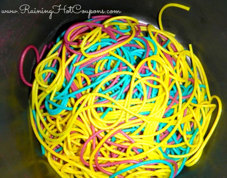 Colored Noodles Recipe (Fun for the Kiddos and Very Inexpensive!) - Raining Hot Coupons