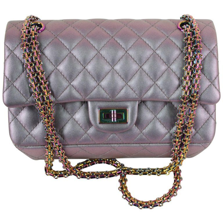 fbf59f722a37d1 Chanel Medium 2.55 Reissue Double Flap Bag - Lilac Iridescent Mermaid |  1stdibs.com