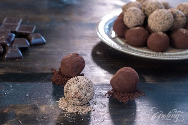 Chocolate Caramel Truffles :: Home Cooking Adventure