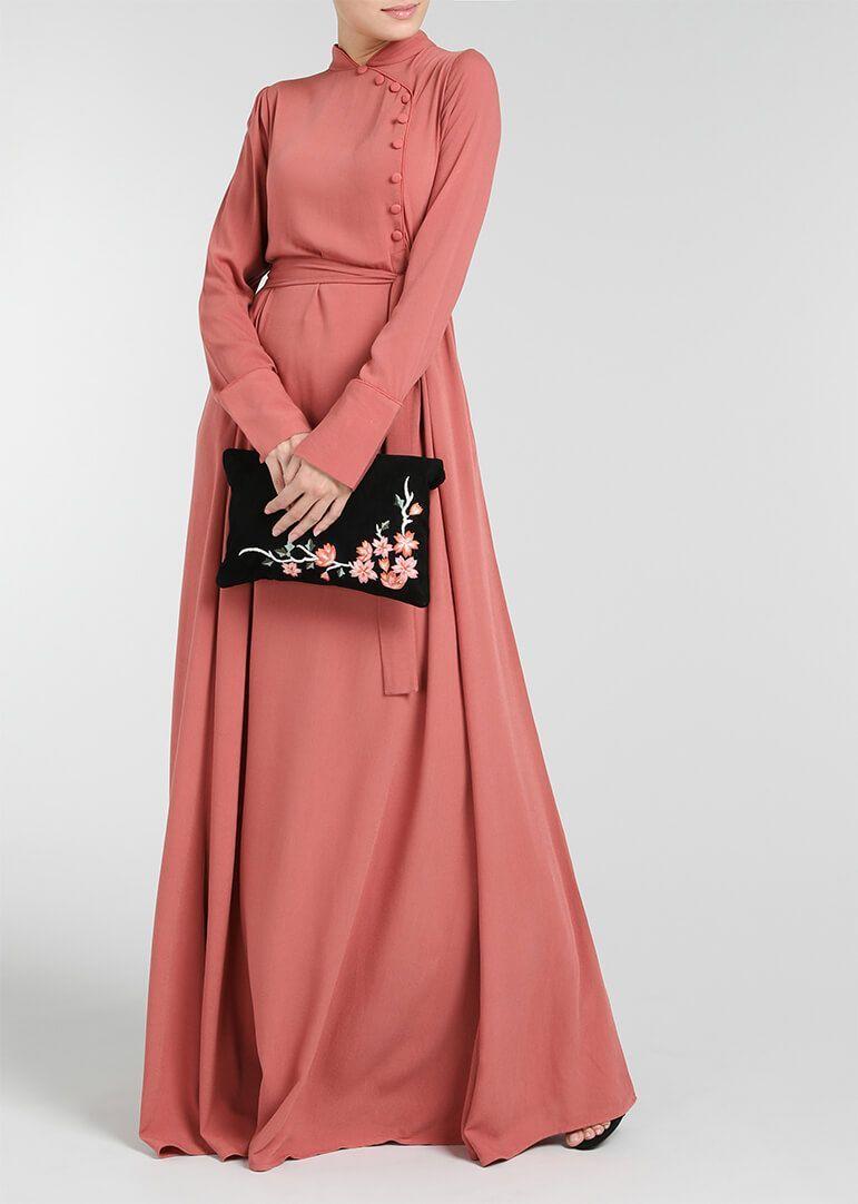 Pink Coral Abaya | Vestidos | Pinterest | Vestiditos, Trapillo y Falda