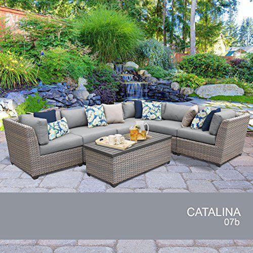Catalina 7 Piece Outdoor Wicker Patio Furniture Set 07b Want
