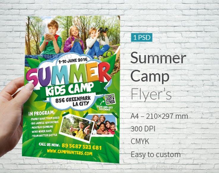 Summer Kids Camp Free Psd Flyer Template Summer Camps For Kids Summer Kids Free Psd Flyer Templates