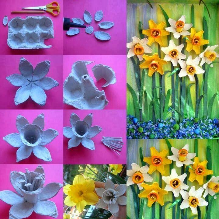 Flores Com Caixas De Ovos Decoracao E Invencao Caixas De