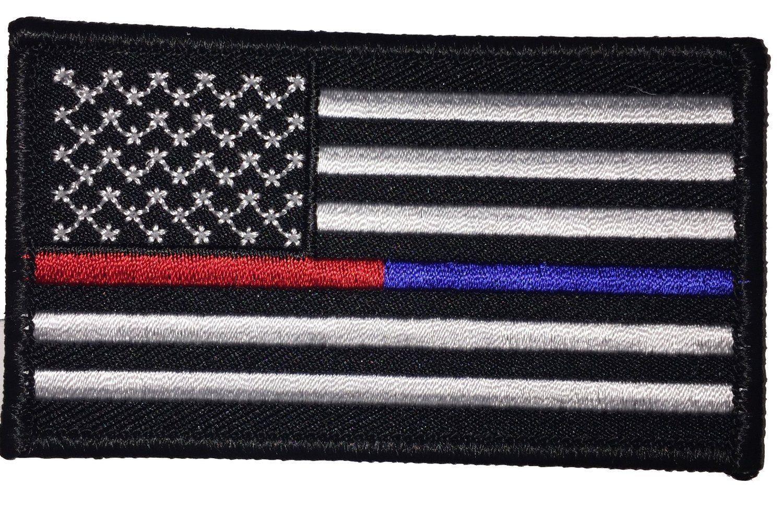 thin blue line union flag patch cops - HD1500×974