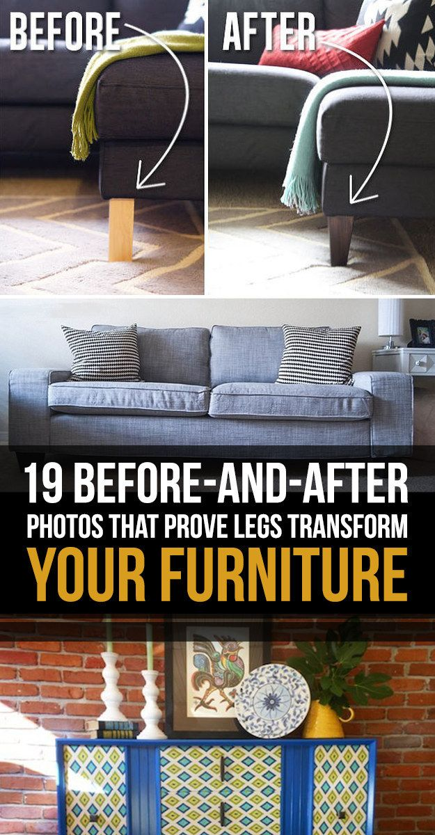 19 Furniture Makeovers That Prove Legs Can Change Everything ...