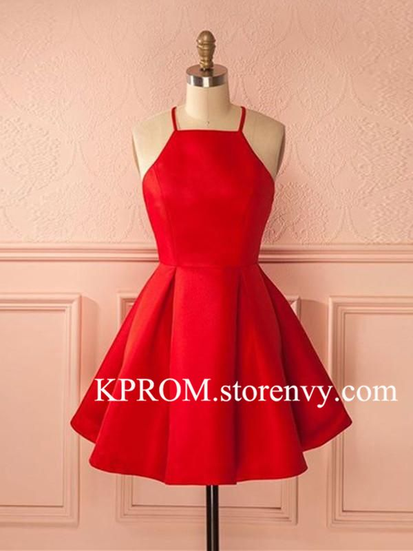 Simple Red Short Prom Dress,Short Red Homecoming Dress,Sexy Cocktail Dress - Short red prom dresses, Red homecoming dresses short, Red homecoming dresses, Homecoming dresses short, Cheap homecoming dresses, Homecoming dresses under 100 - Customized service and Rush order are available  Our email KKprom@outlook com A  Color All color are available from our color chart Please contact us if you want other color  Since computer screens have chromatic aberration, especially between CRT screen and LCD screen, we can not guarantee that the color of our products will be exactly the same with the photographs you saw  B We can make the dress in standard size or custom ,if you need custom sizes,please give us below measurements 1 Bust       inches 2 Waist      inches 3 Hips         inches 4 Shoulder to Shoulder       inches 5  Hollow to floor(no shoes)         inches 6 Height(no shoes)       inches 7 Shoes height       inches C Delivery time Normal total time 1225 days (tailoring time+shipping time) Rush order within 15 days,please tell us in advance,there will be extra US $30 00