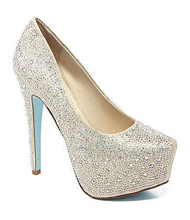 920848b60dd Blue by Betsey Johnson Wish Platform Pumps  Dillards almost as beautiful as  the Manolo Blahnik s. Sparkle ...
