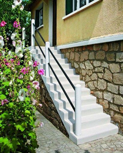 Conseils pour peindre un escalier en béton - peinture sur beton brut