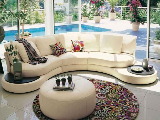 20 Modern Living Room Designs With Stylish Curved Sofas Living Room Design Modern Sofa Design Modern Furniture Living Room
