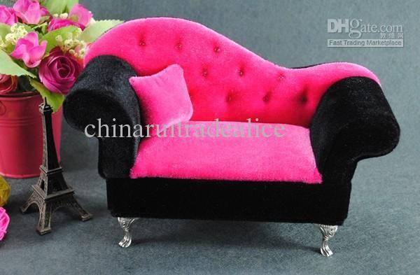 Best Mini Furniture #Sofa Pillow Velvet Jewellery Box Case Organizer ...