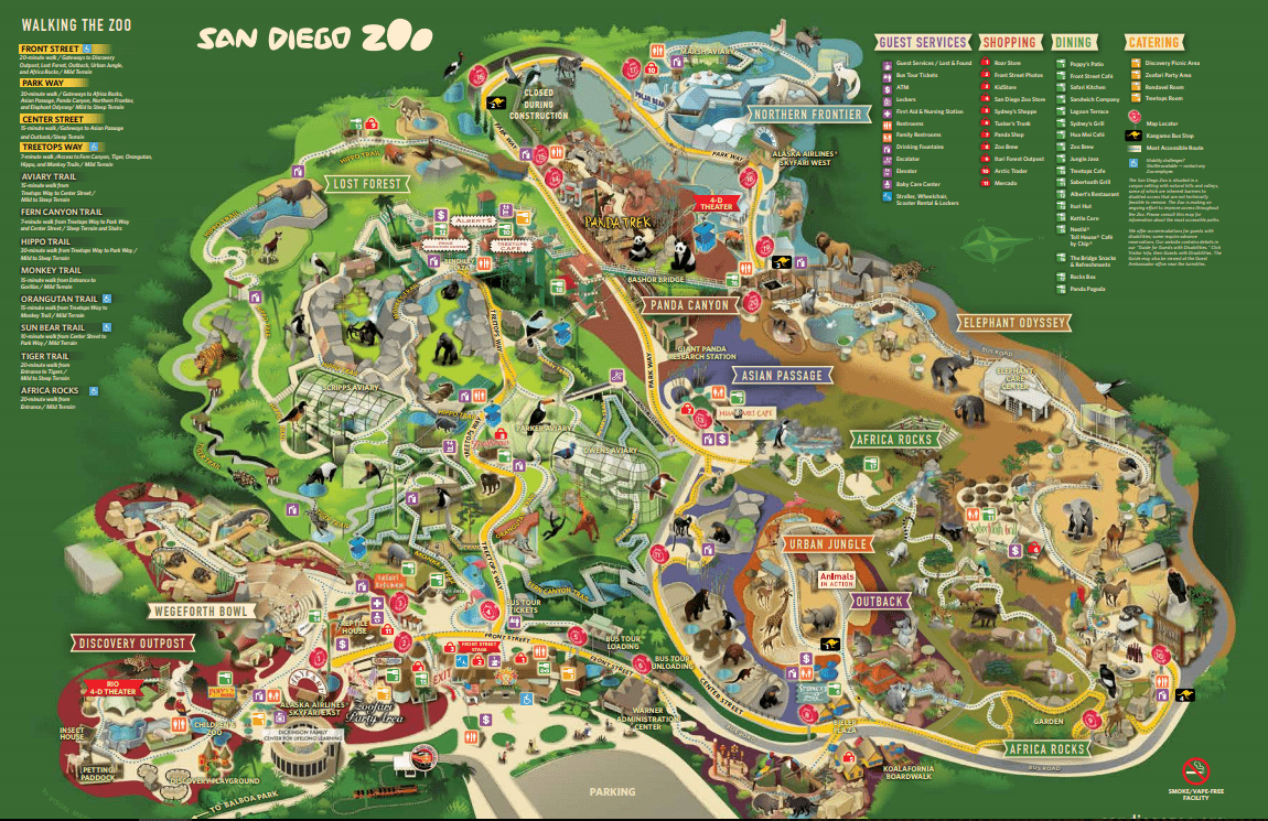 Pre Sale Of Discounted San Diego Zoo Tickets Now Available Online From Things To Do In California Zoo Map San Diego Zoo San Diego Map