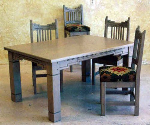 Torquoise Sante Fe Dining Table Santa Fe Southwest Style Dining Set Tables Chairs China Cabi Southwest Furniture Southwestern Home Southwestern Furniture