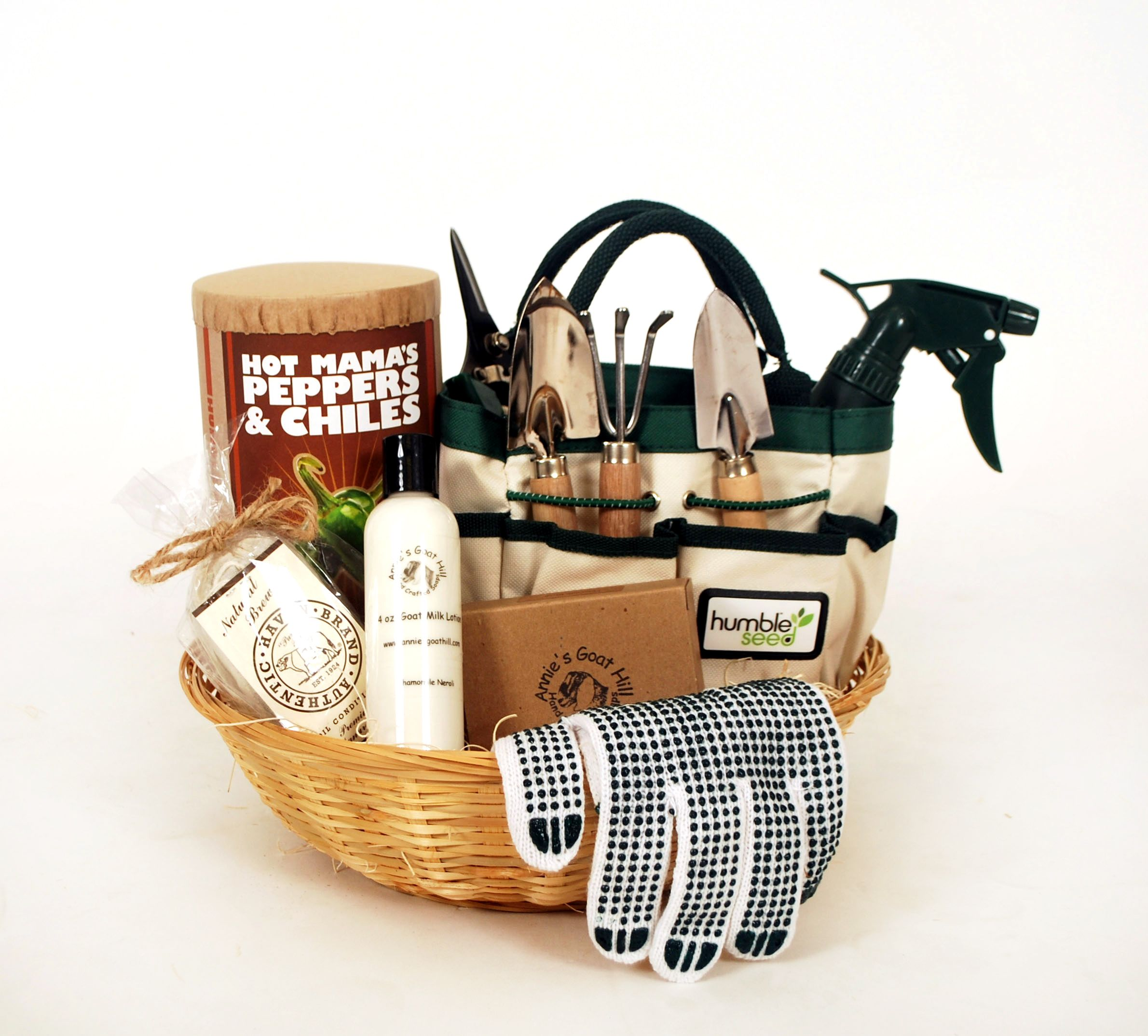 Hot Mama's Peppers and Chiles Gift Basket is perfect for