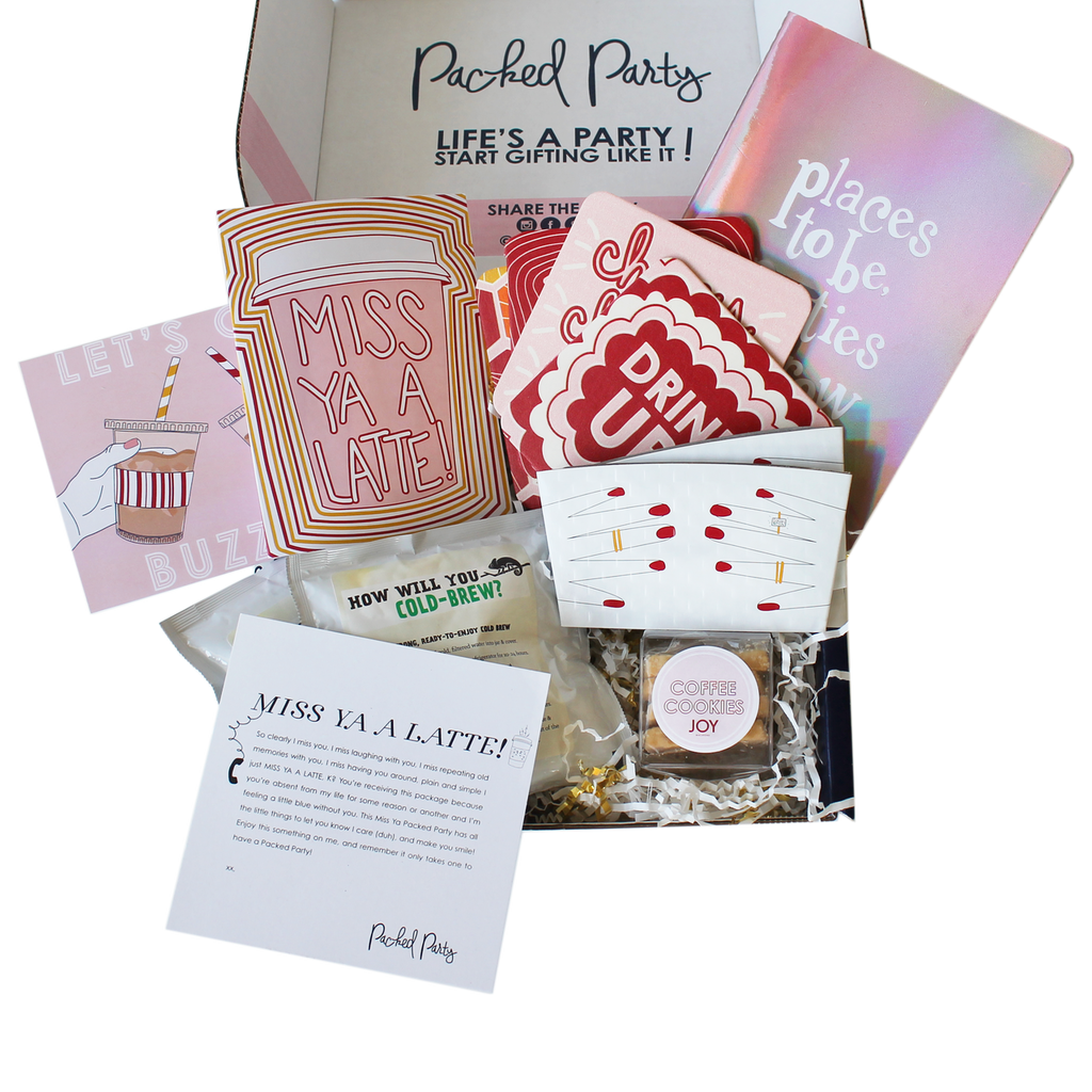 Miss Ya A Latte Gifts, Party packs, Latte