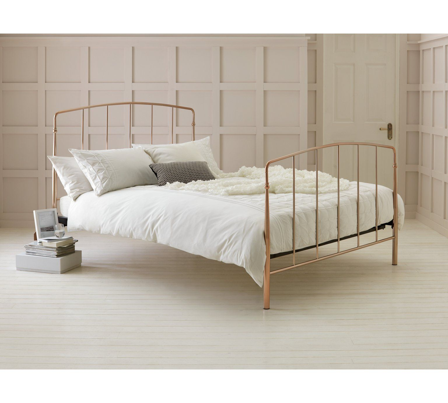 Buy Argos Home Aurelie Double Bed Frame Rose Gold