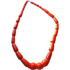 Bakelite Art Deco Design Long Strand Necklace!  Now available at www.collectionsbyann.  $345.