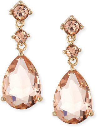 Fragments Crystal Teardrop Dangle Earrings, Pink