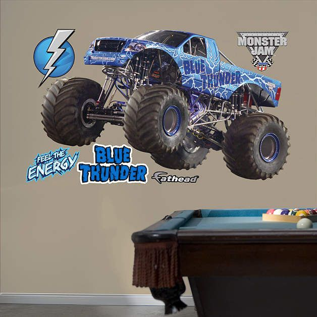 Fathead Monster Jam Blue Thunder Wall Decal   Wall Sticker Outlet