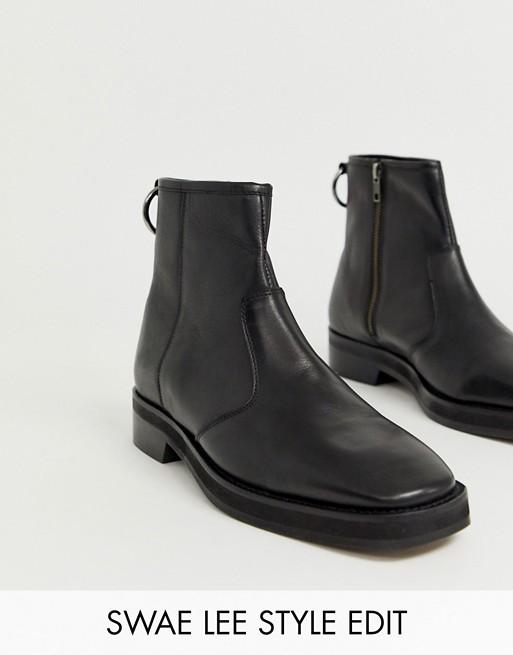 ASOS DESIGN chelsea boots in black