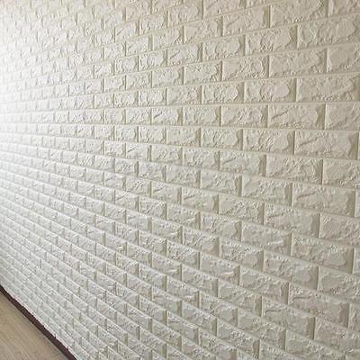 20 rollos 3d efecto piedra pared ladrillos papel pintado for Papel pintado texturizado