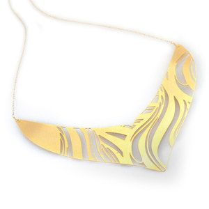 Maasai Necklace Wave Gold Plate, $80, now featured on Fab.