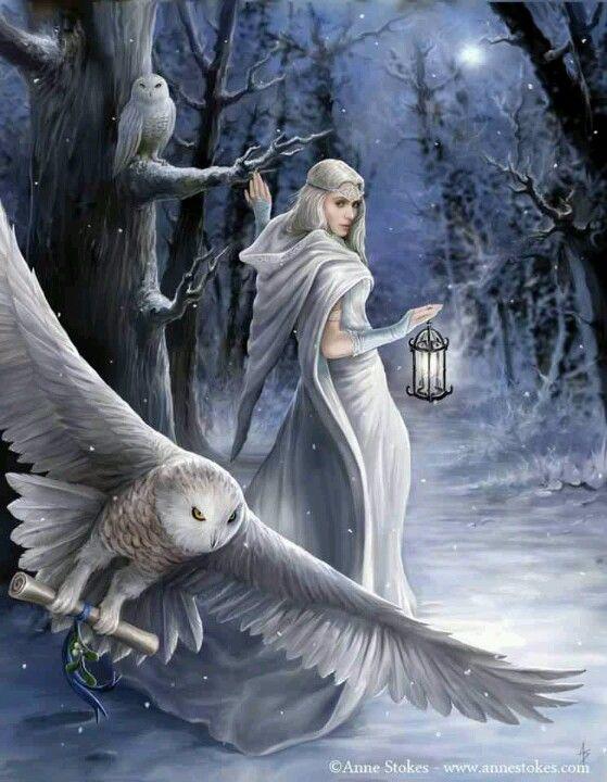 Anne Stokes winter fantasy art