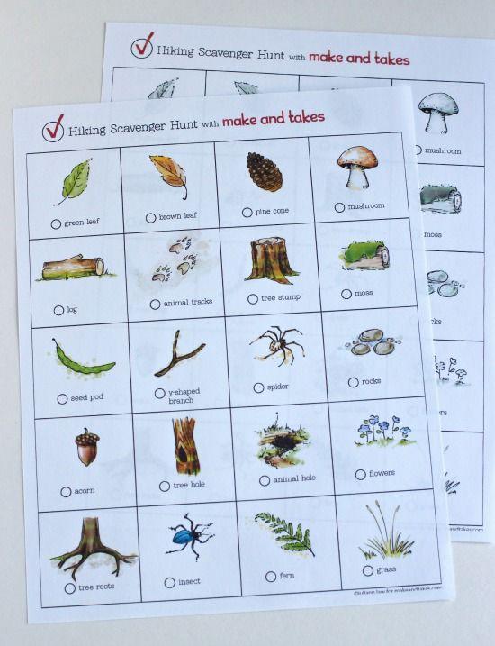 Hiking Scavenger Hunt Printable for Kids | Recipes | Girl