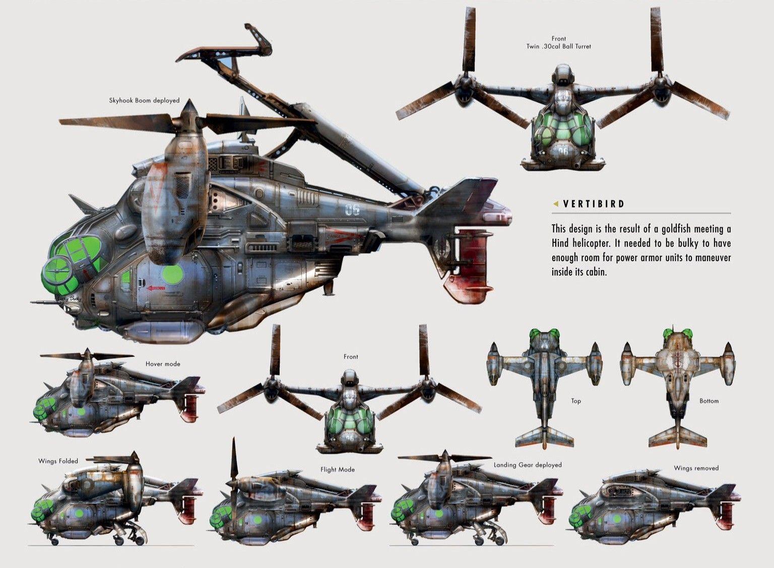 Fallout vertibird  concept art
