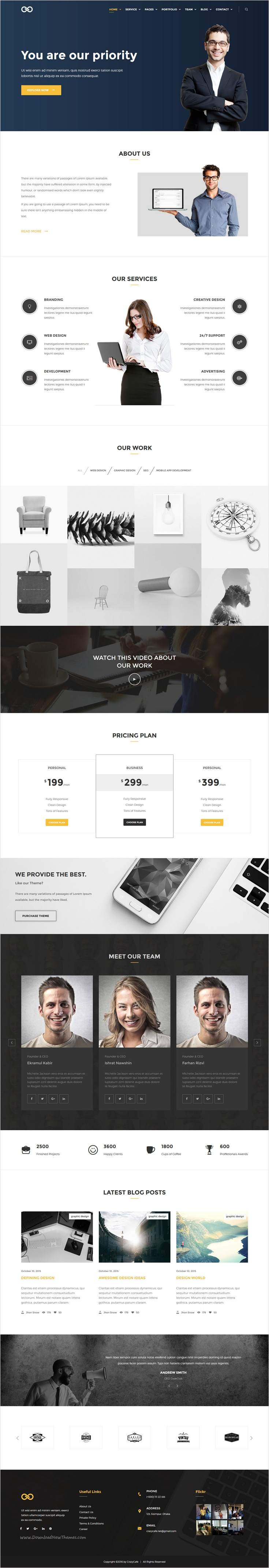 Salad is unique and elegant multipurpose #Bootstrap HTML #Template for Corporate, Portfolio, #Creative Agency, Business, Blog website with 8+ stunning homepage layouts download now➩ https://themeforest.net/item/salad-multipurpose-responsive-html-template/17339200?ref=Datasata