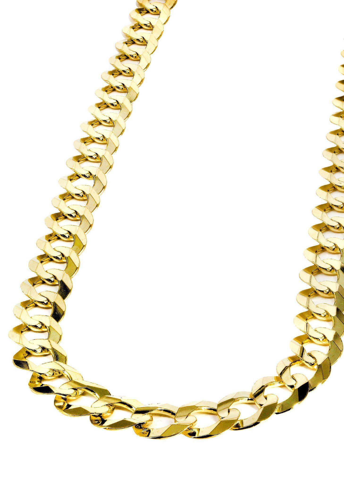 Mens Gold Chain Solid Cuban Link 10k Gold Gold Chains For Men Chains For Men 14k Gold Chain