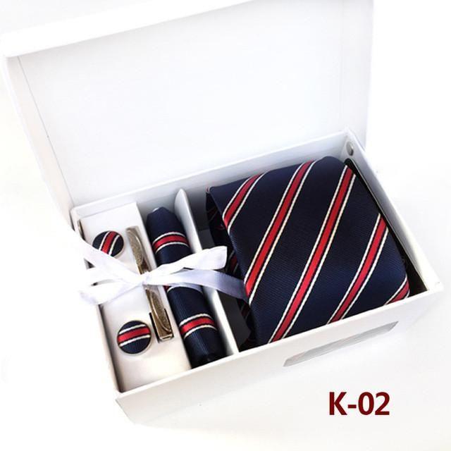 2017 New 100% Silk Ties Cufflinks And Tie Bar