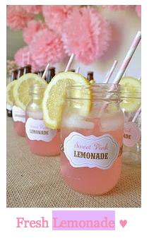 All little girls parties should have pink lemonade.