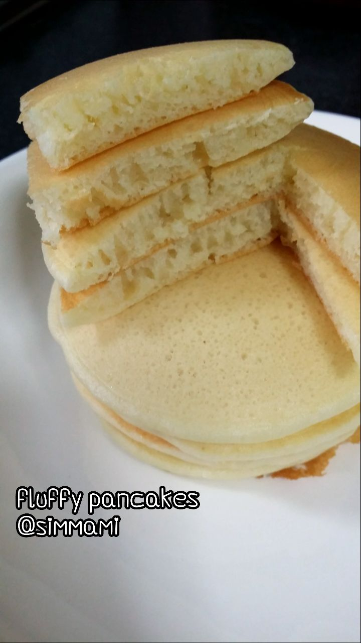 Fluffy Pancake Fluffy Pancake Recipe Fluffy Pancakes Asian Desserts