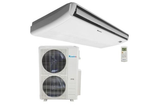 Single Zone 48 000 Btu Klimaire Decorative Ductless Floor Ceiling Fan Coil Unit With 48 000 Btu 16 Seer Heat Pump Air Conditioner 208 230v Heat Pump Air Conditioner Heat Pump Fan Coil Unit