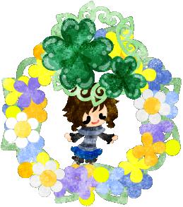 春のフリーのイラスト素材可愛い女の子とクローバーのリース  Free Illustration of spring Acute girl and a wreath of clover   http://ift.tt/2nt9aXi