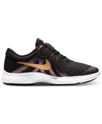 5af8ad4be9198 Nike Little Girls' Renew Rival Reflective Running Sneakers from Finish Line  - Black 3