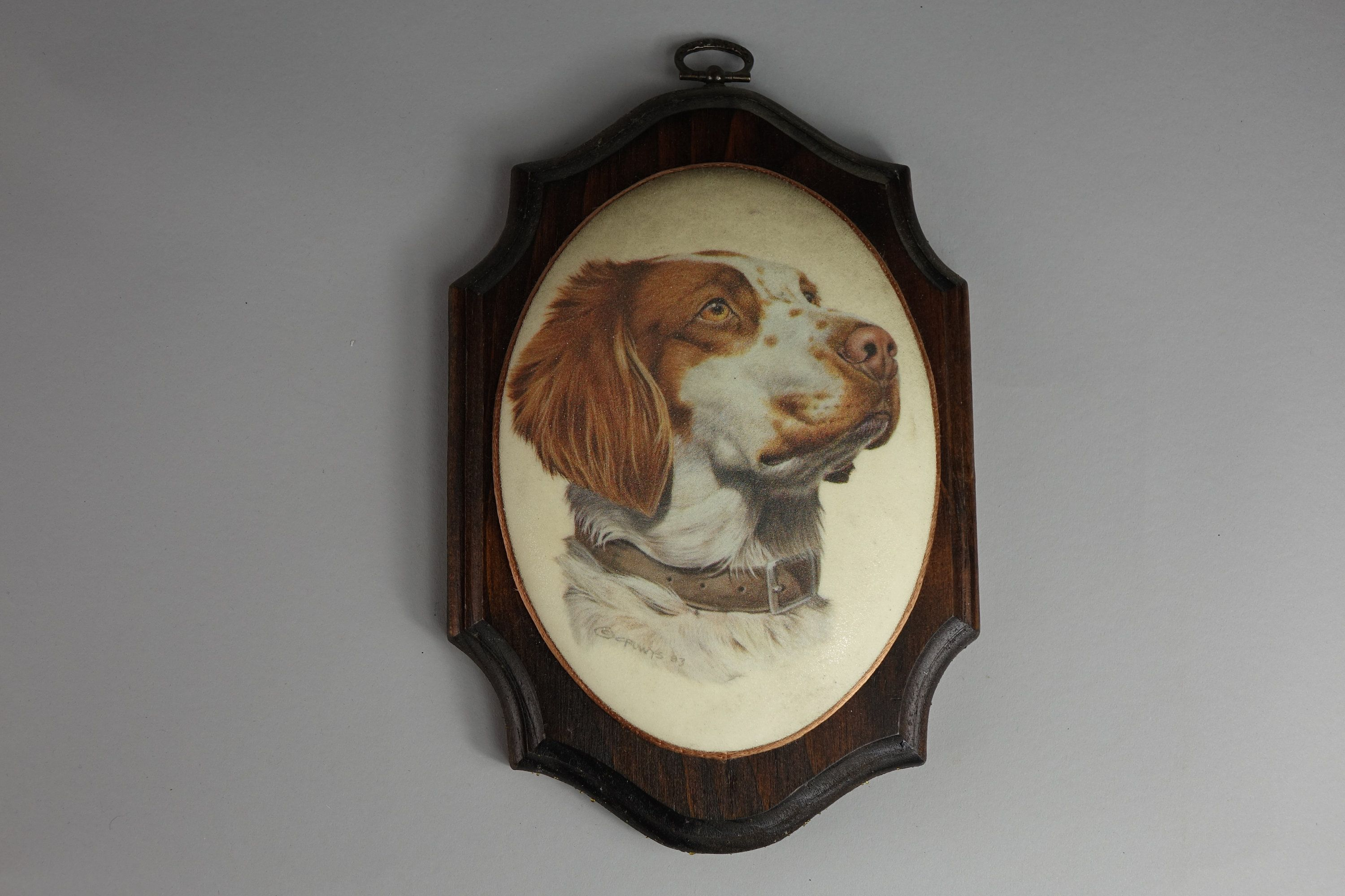Brittany Spaniel wall hanging by LostDogTradingPost on