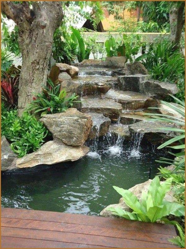 Construire Un Petit Bassin De Jardin Avec Cascade Inspirational