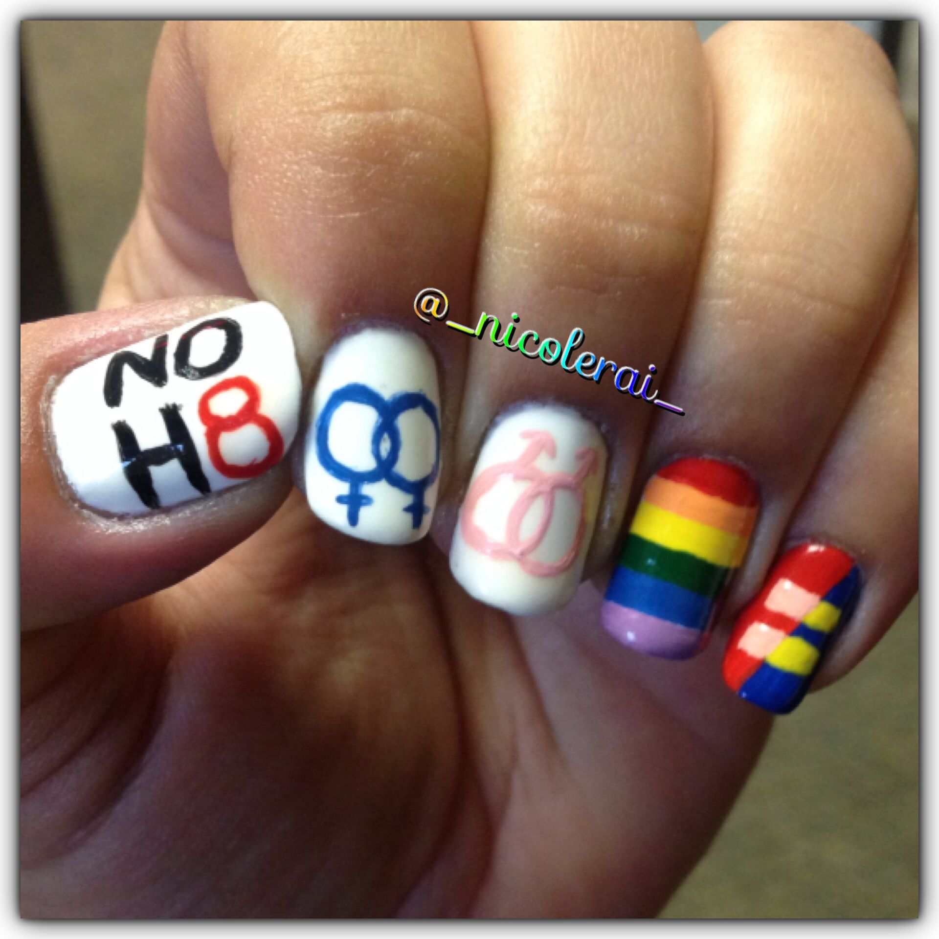 Gay pride nail art for international day against homophobia gay pride nail art for international day against homophobia gaypride nicolerai prinsesfo Image collections