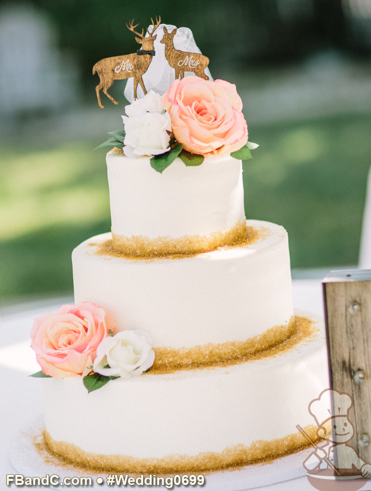"Design W 0699 Butter Cream Wedding Cake 14""+10""+6"