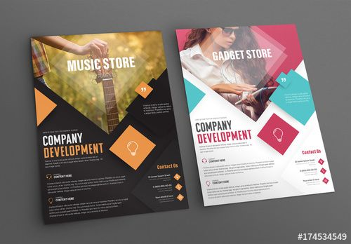 music and tech retail flyer layouts 1 design pinterest flyer