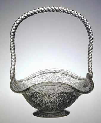 American Glass Basket By Boston Sandwich Glass Company 1875