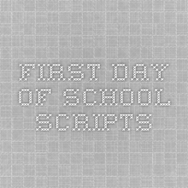 First Day of School Scripts from an Art teacher, a Middle