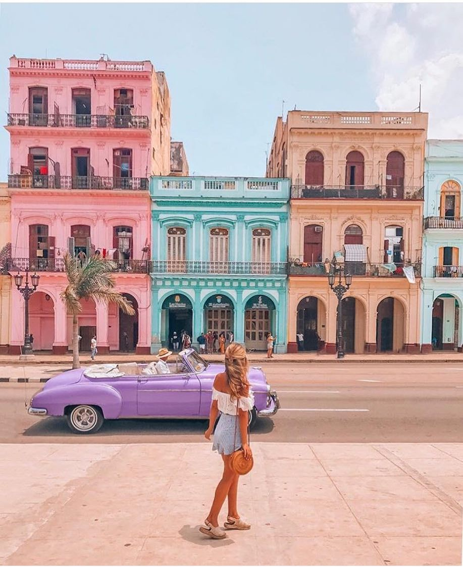 Travelcommunity On Instagram Havana S Colorful Architecture Is A Product Of Its Historical Development Havana Cuba Travel Cuba Photos Cuba Vacation