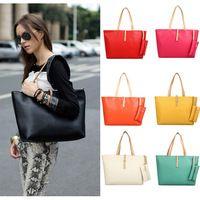Vintage Simple Women's fashion buckle shoulder big bag Lady Ladies bags vintage women messenger bag shopping handbag Tote F0108